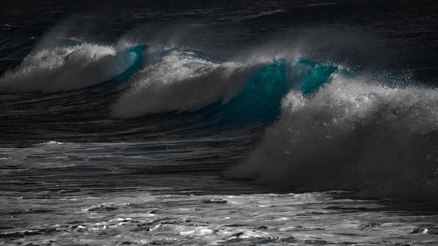 Waves, Water, Surf, Ocean, Sea, Spray, Wind, Motion