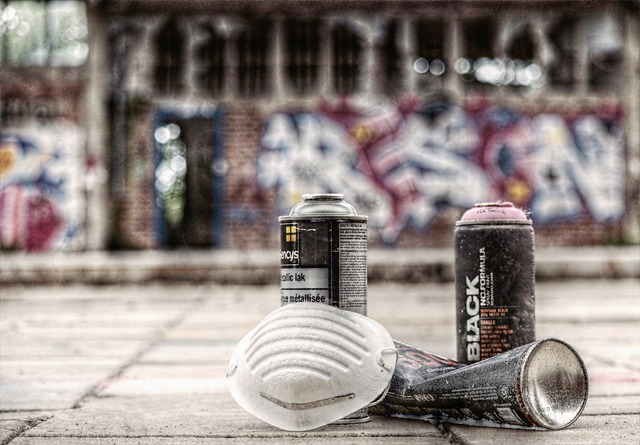 Graffiti, Sprayer, Spray Cans, Mask, Sprayer Utensils