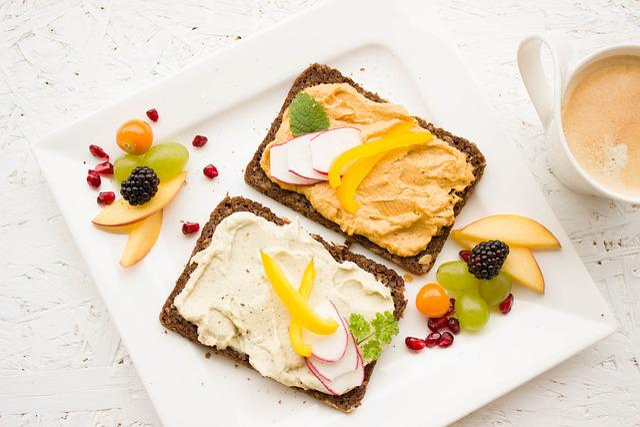Breakfast, Healthy, Colorful, Hummus, Spread