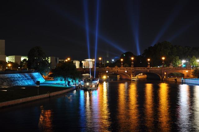 Spree, Water, Berlin, Steamer, Abendstimmung, Port