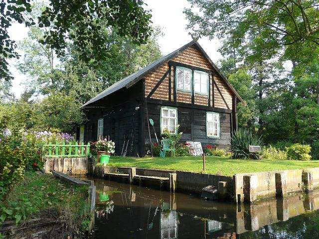 Spreewald, Home, Truss, Idyll, Forest, Summer