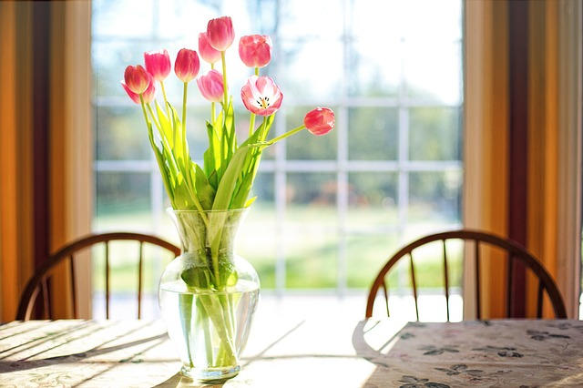 Tulips, Vase, Spring, Flowers, Bouquet, Pink, Blossoms