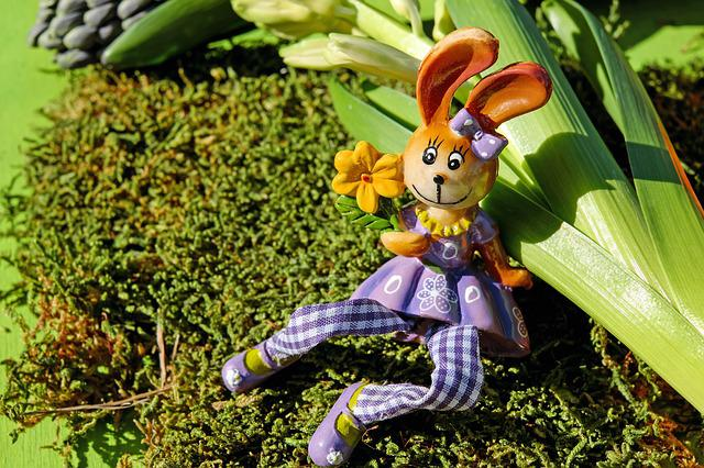 Easter Bunny, Easter, Figure, Sitting, Spring, Moss