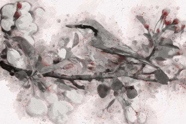 Spring Bird, Bird, Spring, Blue, Flowering Tree, Nature