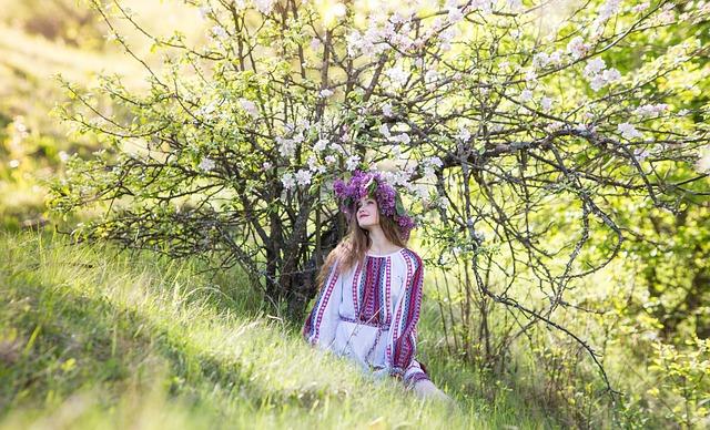Girl, Spring, Flowers, Handsomely, Light, Tenderness