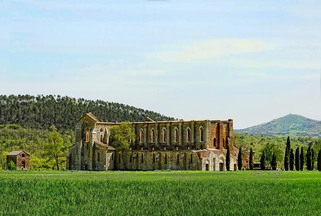 Ruin, Old, Historically, Nature, Sky, Grass, Spring