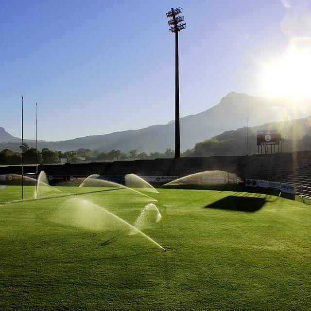 Field, Sprinklers, Photography, Water, Irrigation