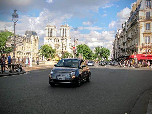 Paris, City, Fiat 500, Square, City Car
