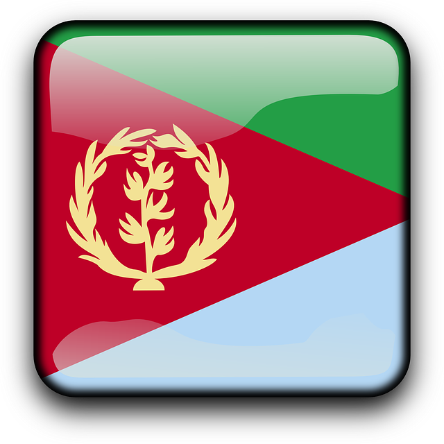 Eritrea, Flag, Country, Nationality, Square, Button