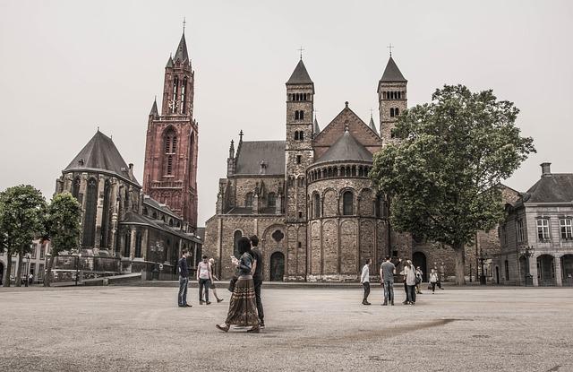Maastricht, Square, Het Vrijthof, Netherlands, Towers