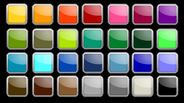 Button, Icon, Square, Colorful, Edge, Shiny