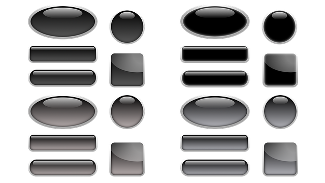 Button, Icon, Oblong, Square, About, Oval, Black, Grey