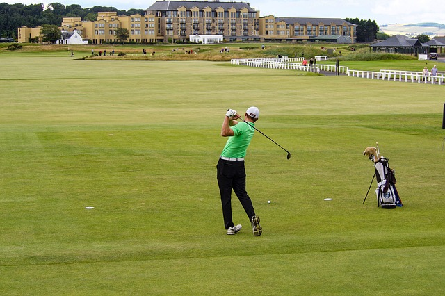 St Andrews, Old Course, Golfers, Tee, Golf, Fairway