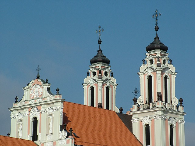 Lithuania, Vilnius, St Catherine's Church, Baroque