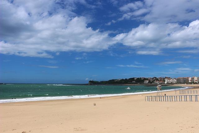 St Jean De Luz, France, Bay, Atlantic Ocean, Beach