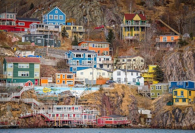 Battery, Newfoundland, St John's, Colorful Houses