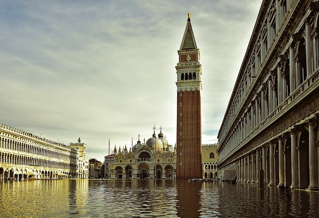 St Mark's Square, St Mark's Basilica, Dom, High Water