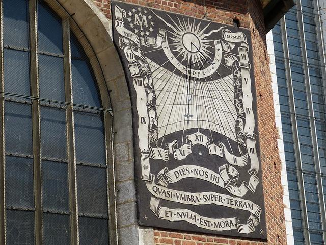 Sundial, Clock, Time, Church, St Mary's Church, Krakow