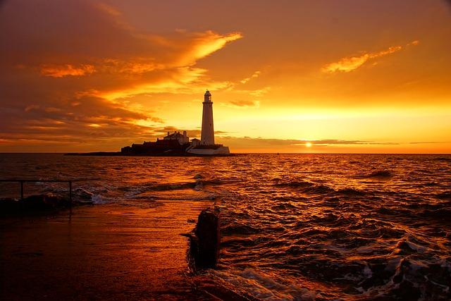 Lighthouse, St Marys Lighthouse, Whitley Bay