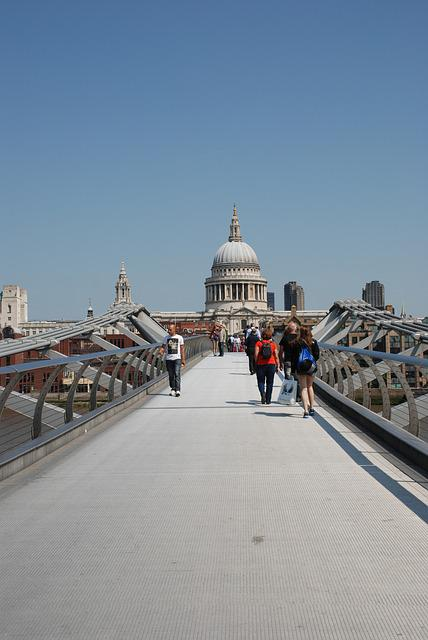 Millennium Bridge, St Paul's Cathedral, Temple St, Paul