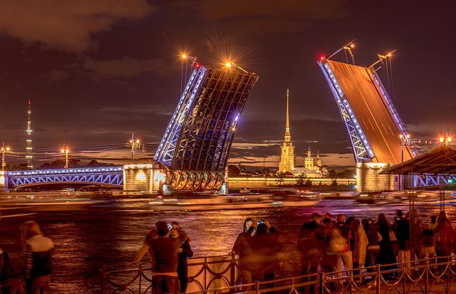 Bridge, Peter And Paul Fortress, St Petersburg