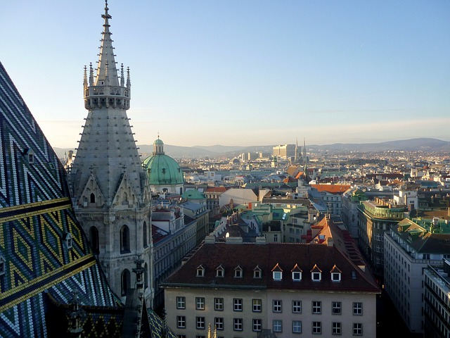 Vienna, Panorama, Austria, St Stephan's Cathedral, View