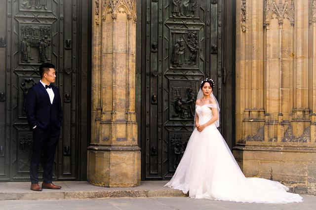 Prague, St Vitus Cathedral, Bride And Groom