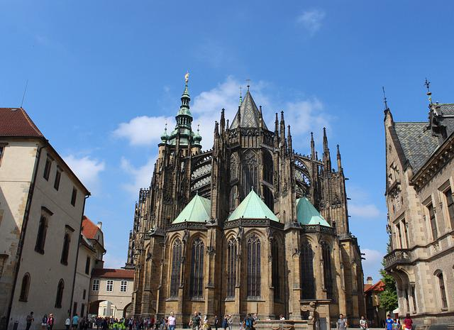 Prague, St Vitus Cathedral, Czech Republic, Dom, Church
