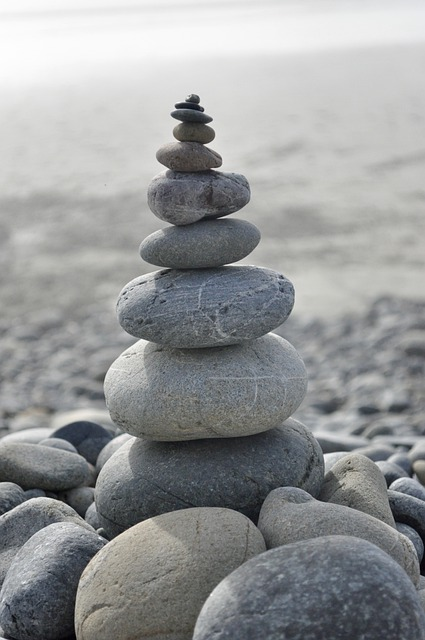 Zen, Stability, Balance, Cobblestone, Harmony