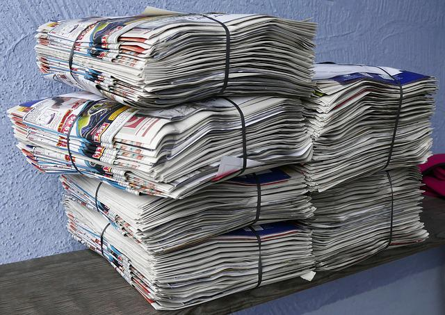 Newspapers, Brochures, Stack, Paper Stack, Waste Paper