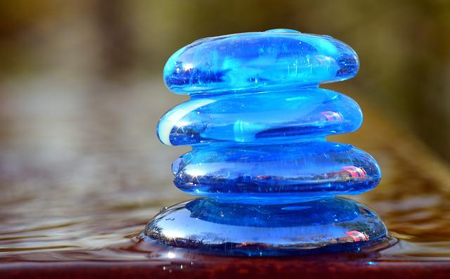 Stones, Stacked, Blue, Glass, Glass Blocks, About