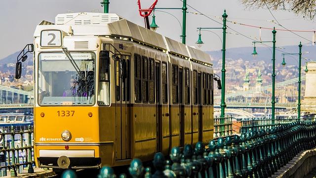Budapest, Tram, City, Stadsfoto, Hungary