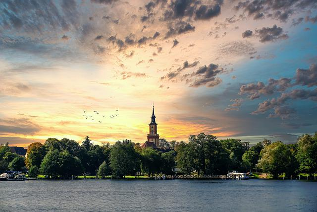 Stadtsee, Templin, Church, Summer, Vacations, Landscape