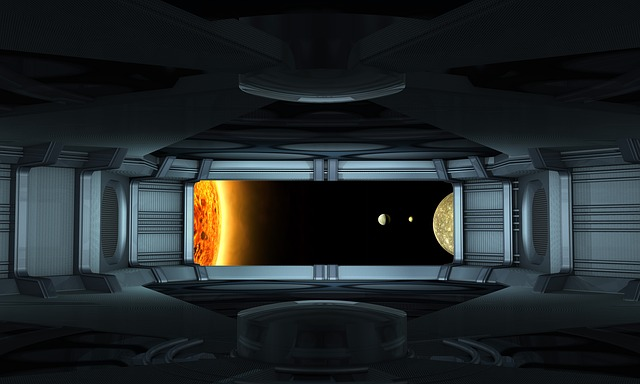 Universe, Sun, Spaceship, Interior, Stage Design