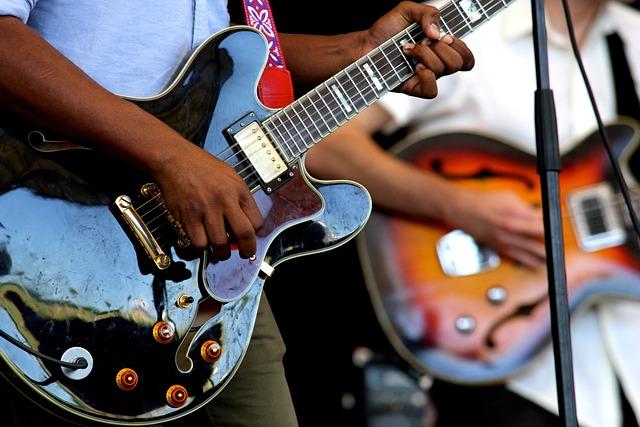 Guitars, Instruments, Perform, Stage, Concert, Festival