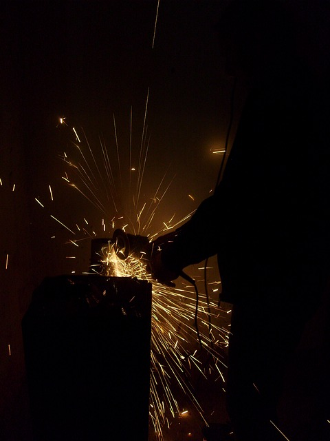 Flexing, Craftsmen, Craft, Stahlbau, Shower Of Sparks