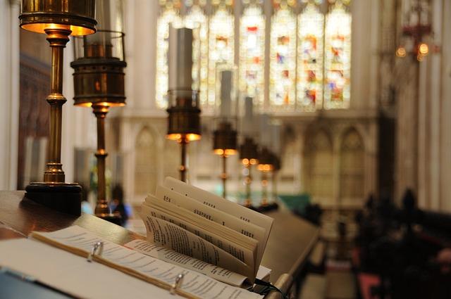 Bath Abbey, Chair, Stained Glass, Church