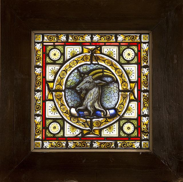 Stained Glass Windows, Salisbury, Cathedral, Goat