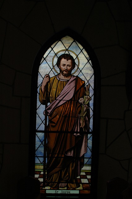 Stained-glass, Stained Glass, St Joseph, Saint Joseph