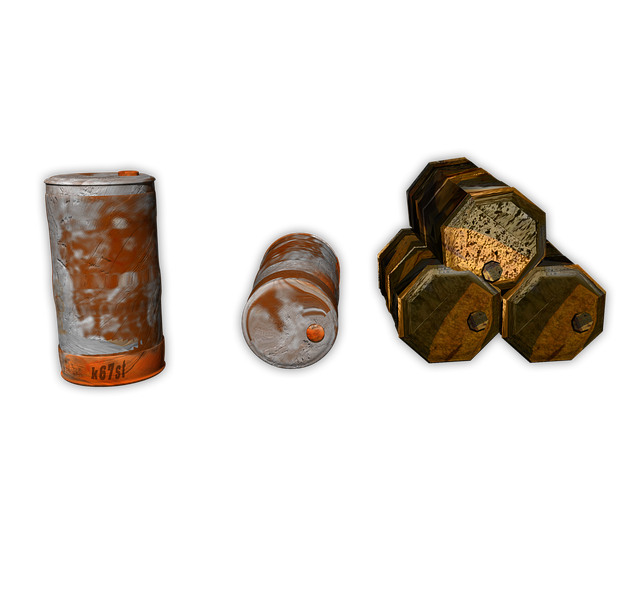 Ton, Barrel, Png, Container, Stainless, Waste, Isolated