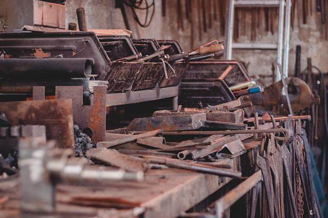 Forge, Industry, Old, Rusty, Leave, Dirty, Stainless