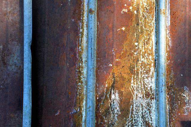 Stainless, Sheet, Corrugated Sheet, Weathered, Texture