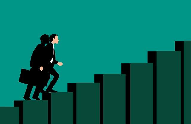 Career, Success, Path, Stair, Businessman, Corporate