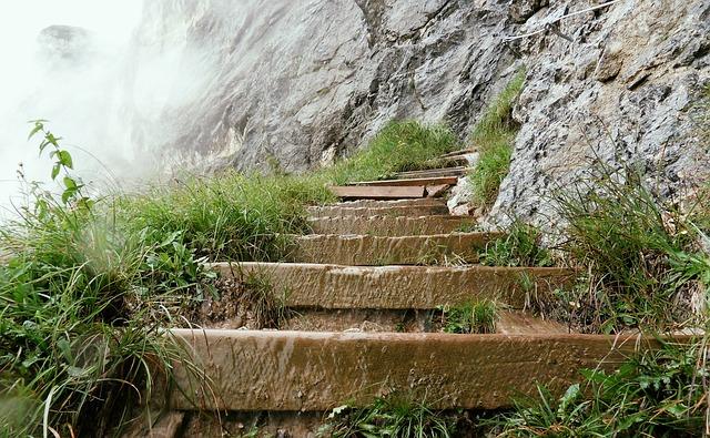 Unterberg, Climb, Stairs, Stair Step, Gradually, Path