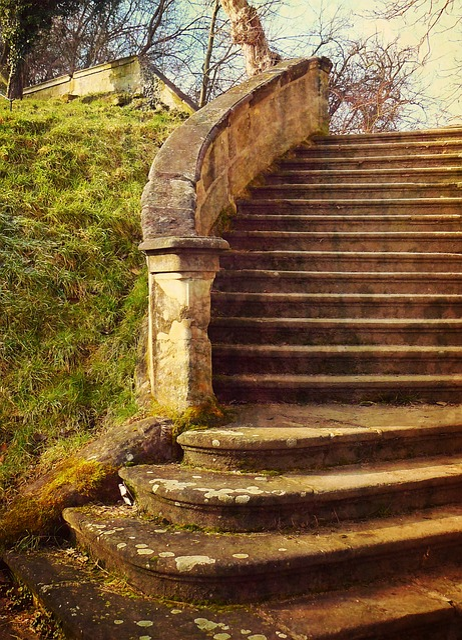 Stairs, Stone Stairway, Stair Step, Gradually