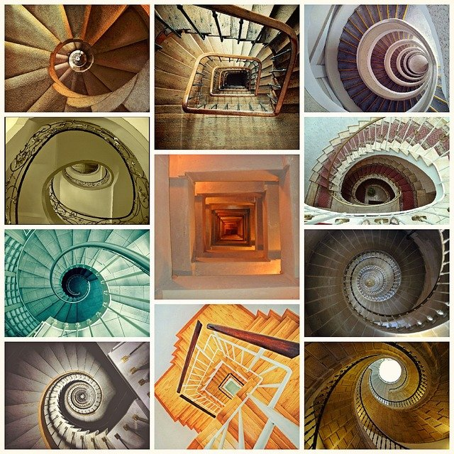Stairs, Staircase, Spiral Staircase, Architecture