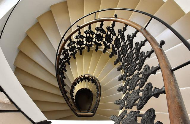 Staircase, Railing, Biedermeier, Spiral