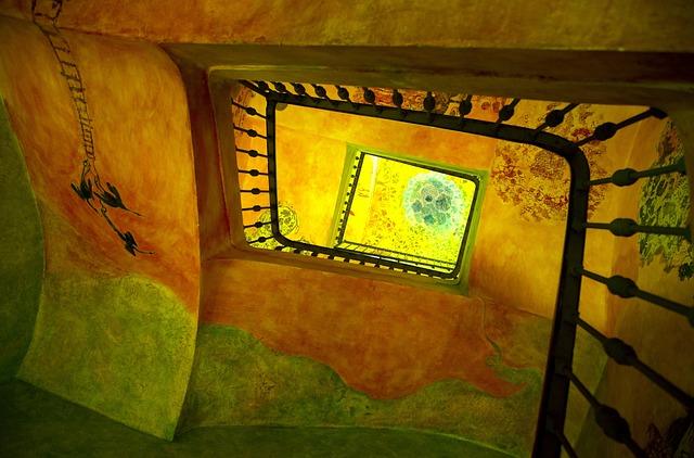 Staircase, Vineyard, Catalonia, Spain, Colors, Mosaic