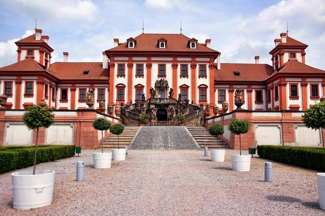 Concluded Trojans, Prague, Palace, Castle, Staircase