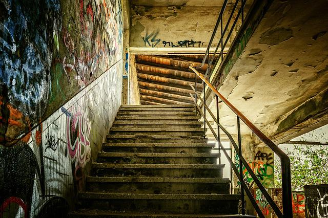Lost Places, Stairs, Staircase, Pforphoto, Building